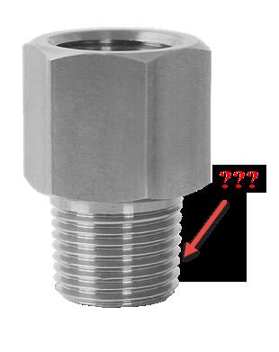 Bảng tra kích thước ren tiêu chuẩn đồng hồ áp suất, nhiệt độ,...