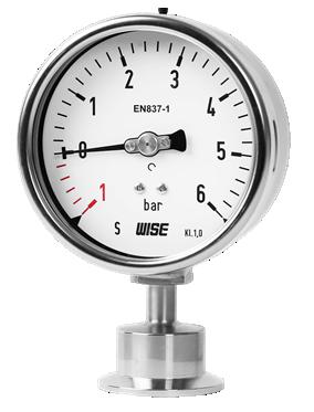 Đồng hồ đo áp suất màng kết nối dạng Clamp 3A P752 Wise
