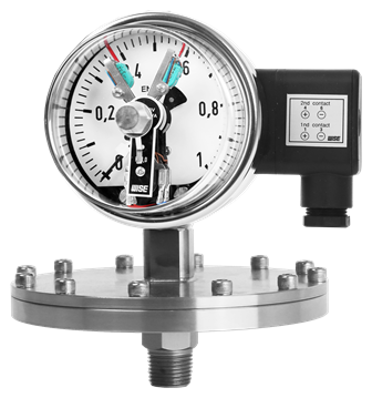 Đồng hồ đo áp suất màng tiếp điểm điện P501/ P502 Wise