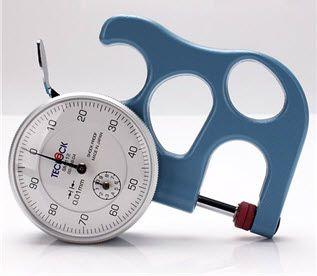 Đồng hồ đo độ dày vật liệu dạng cơ hãng Teclock