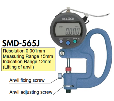 Đồng hồ đo độ dày vật liệu SMD-565J Teclock
