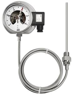 Đồng hồ đo nhiệt độ tiếp điểm điện dạng dây dẫn T520 Series
