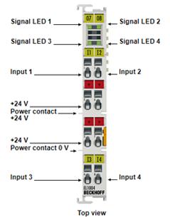 EL1004 Beckhoff -  Đầu vào kỹ thuật số 4 kênh 24vdc EL1004 Beckhoff Vietnam