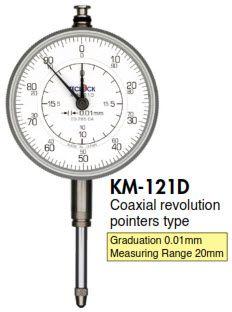 KM-121D Đồng hồ so kim dài 0.01mm Teclock - Teclock Vietnam
