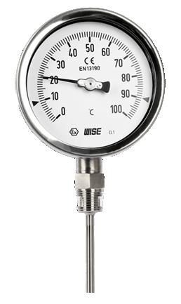 Đồng hồ đo nhiệt độ chân đứng T120 Wise Control