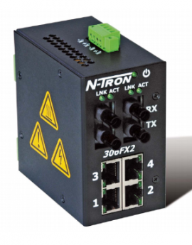 306FX2-N-ST Switch mạng 4 port RJ45, 2 port Fiber Multimode ST 2Km
