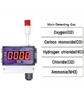 Cảm biến thu thập, phát hiện và cảnh báo khí Oxi-O2, khí độc hại GTD6000 Gastron Korea