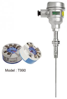 Đầu dò Pt100 kết hợp bộ chuyển đổi tín hiệu 4-20mA R912 (T990)