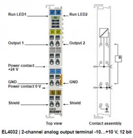 Đầu nối EL4032 Beckhoff - EL4032 analog output terminal