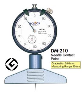 DM-210 Teclock - Thước đo độ sâu DM210 Teclock VietNam
