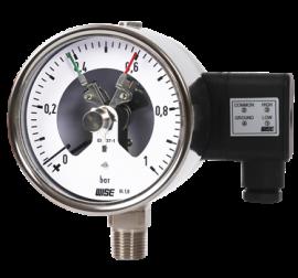 Đồng đo áp suất tiếp điểm điện 3 kim P520 Series Wise Control