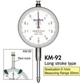 Đồng hồ so 0.1mm Teclock - KM91, KM92, KM93 Teclock