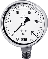 Đồng hồ áp suất nước, khí nén có dầu P258 Wise Control